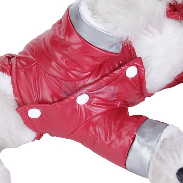 Pet Dog Hoodie Hooded Jumpsuit Winter Coat Jacket RED L