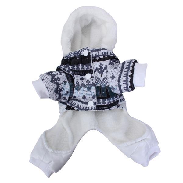 Dog Hoodie Winter Jumpsuit Coat Jacket Jump Suit Clothes Warm Costume