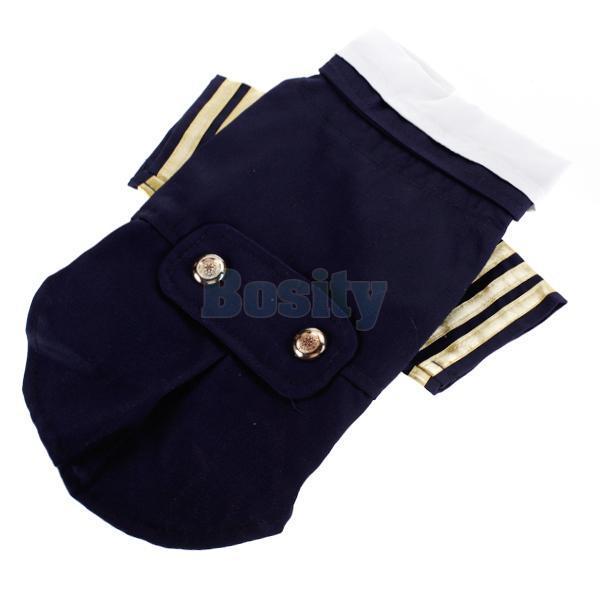 Pet Dog Puppy Sailor Costume Navy Suit Uniform Coat Clothes Apparel s M L XL New