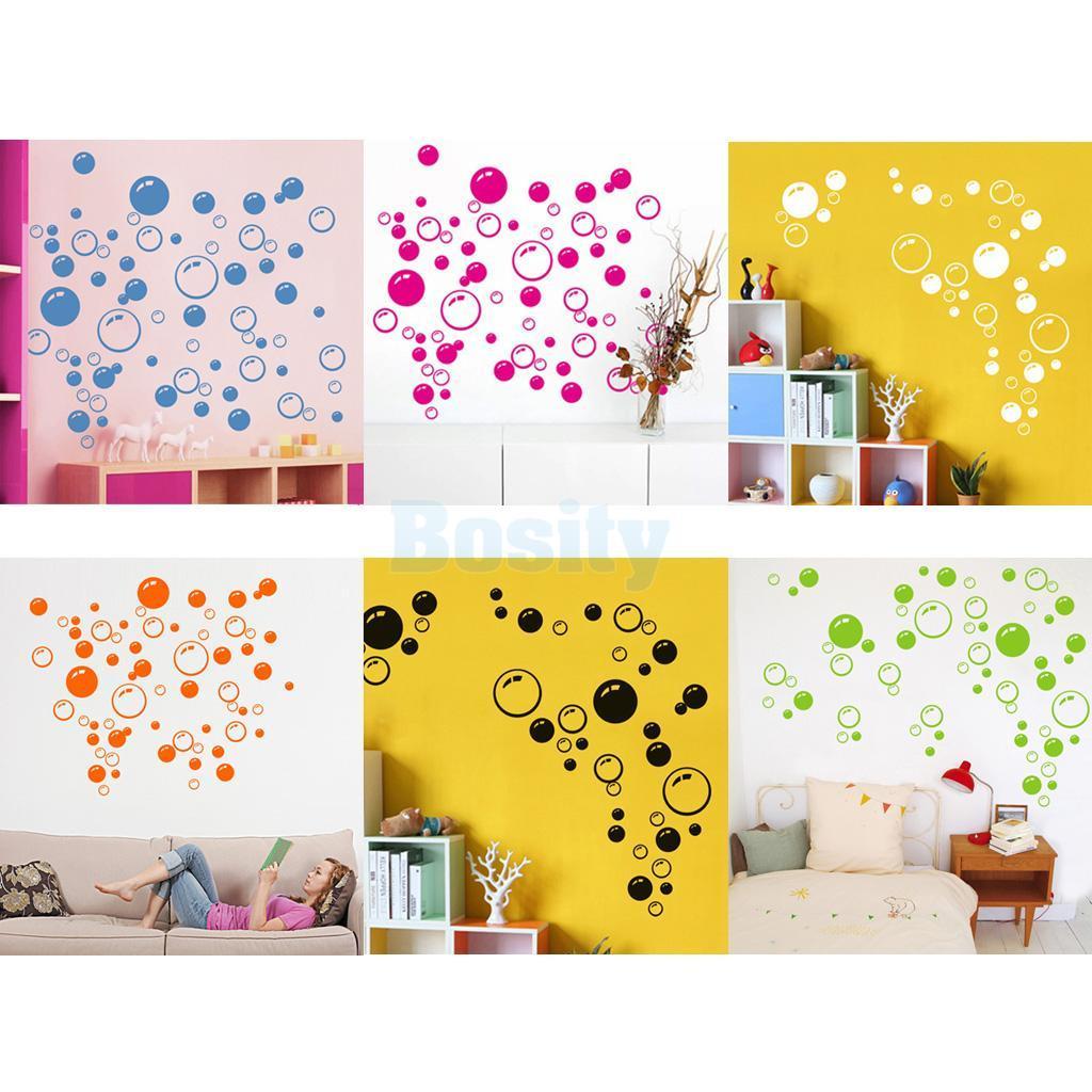 43 Bubbles Wall Art Bathroom Window Shower Tile Decor Decal Kid ...