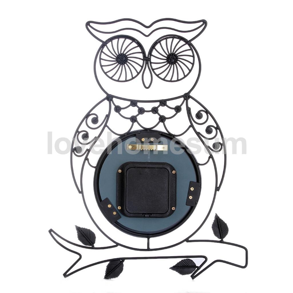 Blesiya Decorative Metal Wall Clock Retro Clock Starburst