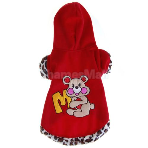 Pet Dog Puppy Apparel Clothes Hoodie Warm Coat Cute New