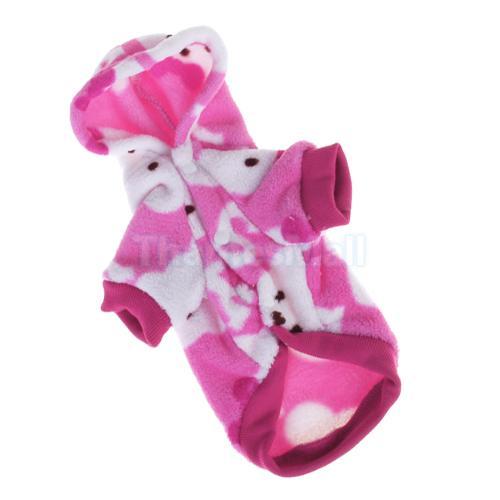 Pet Dog Fluffy Hooded Pajamas Coat Clothes Soft Sleeping Apparel s M L XL XXL
