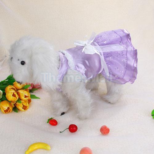 Dress Wedding Skirt Apparel Clothes for Pet Dog Puppy