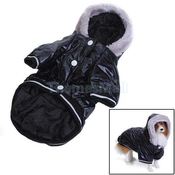Pet Dog Hoodie Hooded Puffy Coat Jacket Apparel Clothing Fluffy Hood