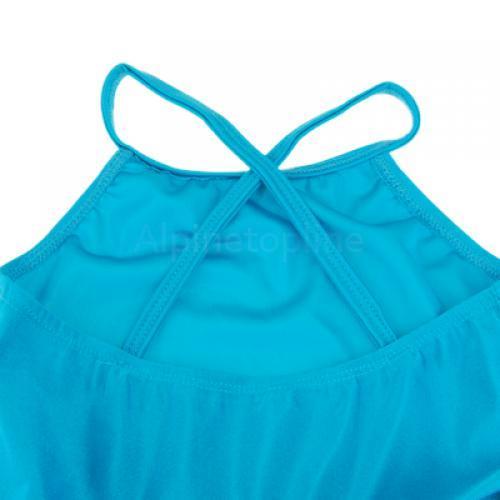 Girl Ballet Tutu Dance Party Dress Leotard Straps Skirt