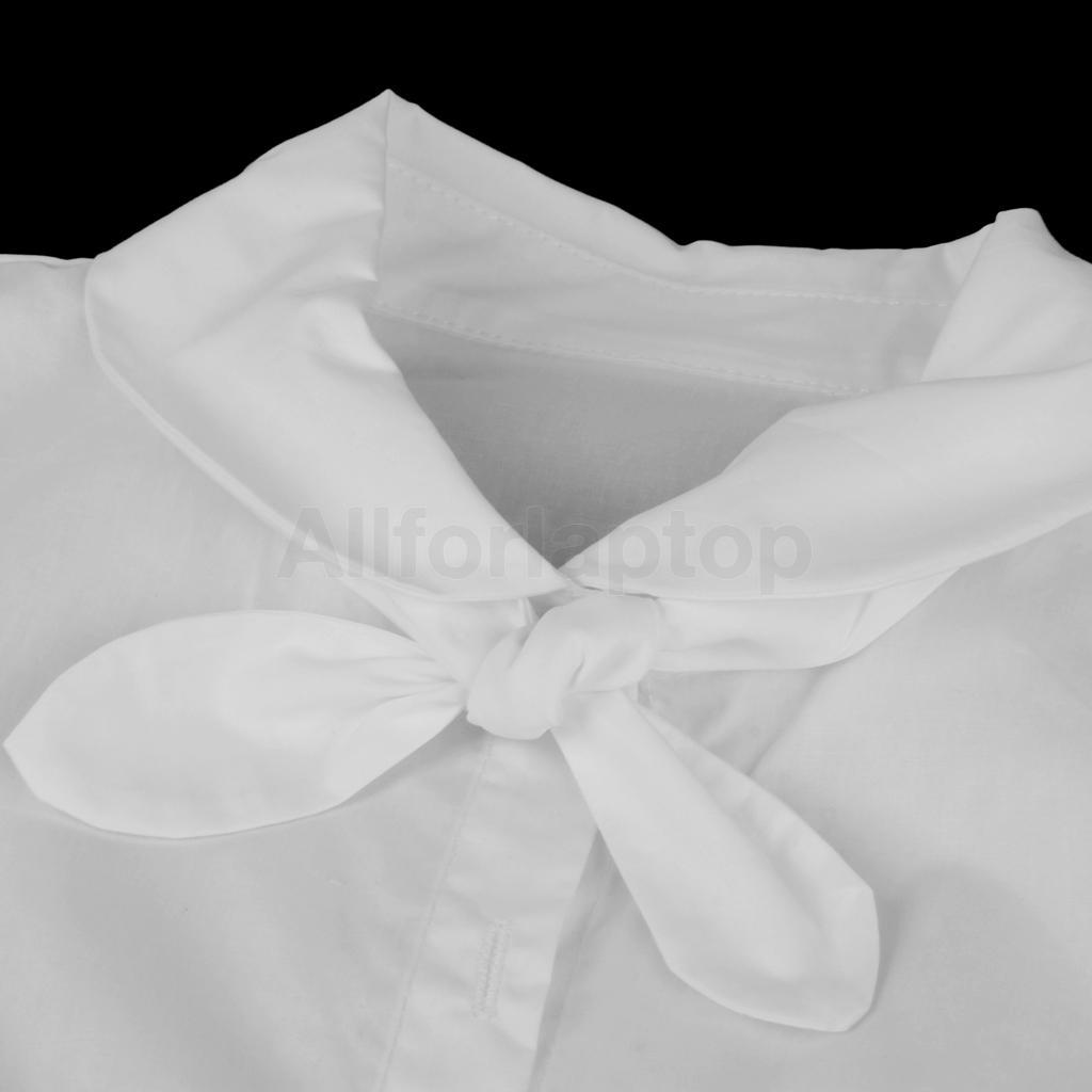 Damen Blusen Einsatz Krageneinsatz abnehmbare Bowknot Kragen für Bluse S M L
