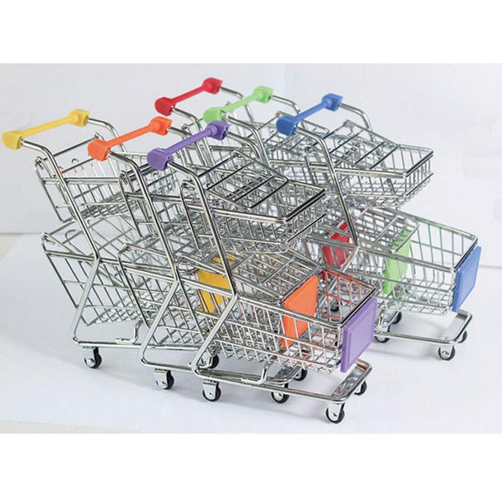Kinder Mini Einkaufswagen Einkaufskorb Kaufladen Wagen Spielzeug Trolley Toy