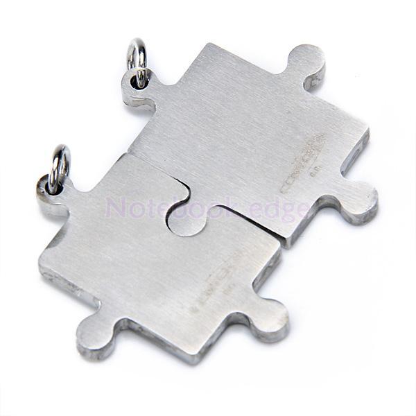 Men Women Stainless Steel Love Jigsaw Pendant F/Necklace CHAIN LOVER