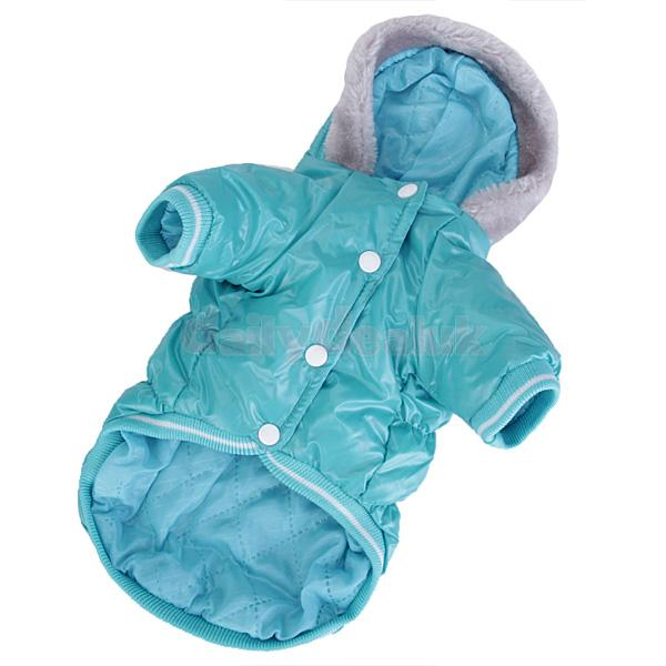 Pet Dog Cat Hoodie Hooded Winter Puffy Coat Jacket Clothes Apparel