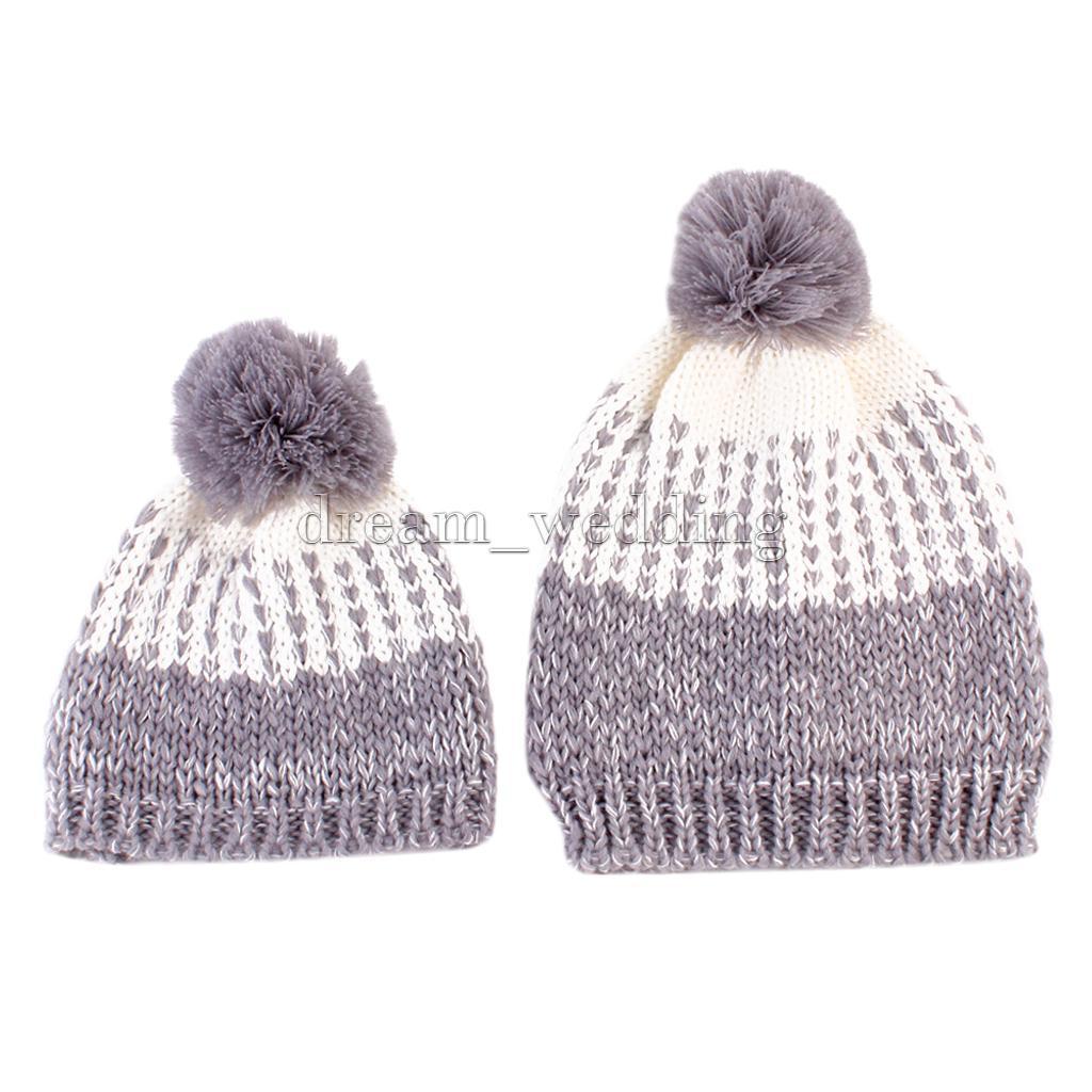 Baby Mädchen Mädchen Mama Winter Strick Häkeln Warm Soft Beanie Hut ...